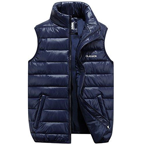 Winter Vest Jacket (JYG Men's Winter Puffer Vest Outerwear Lightweight Quilted Puffer Sleeveless Jacket (US L/4XL Asain) Blue,)