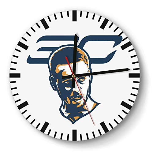 - Decorative Basketball Game Theme Wooden Wall Clock 11 Inch Round Acrylic Non Ticking Silent Sweep Movement Simple Battery Operated Easy to Hang Home Office School Indoor Kitchen Livingroom