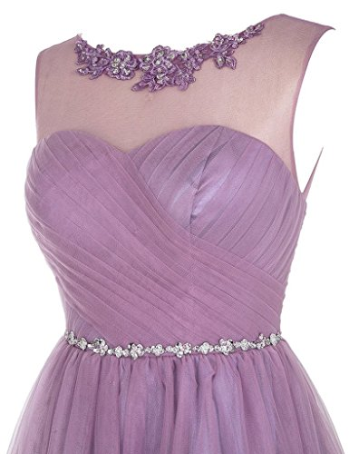 Beads Gowns Tulle Applique Cdress Homecoming Short Burgundy Dresses Cocktail Prom Bridesmaid HXPnPFzqx
