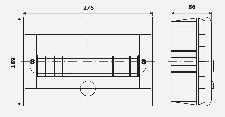 Peque/ño distribuidor empotrado 12/buz/ón Module//Copia//caja de distribuci/ón rasante IP40