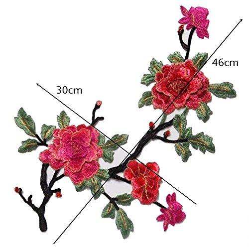 Flores Parches Bordados para Ropa Coser Decoraci/ón