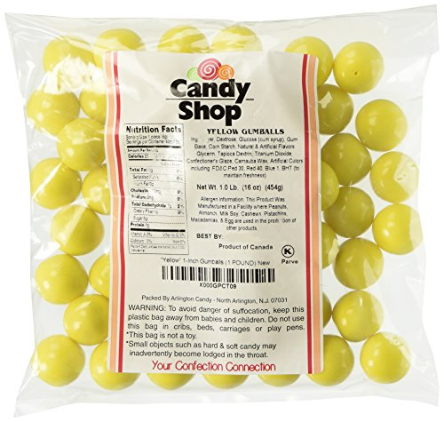Candy Shop Yellow 1-Inch Gumballs (1 POUND)]()
