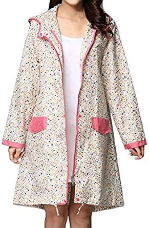 Vintage Coats & Jackets | Retro Coats and Jackets Sister Amy Womens Vintage Waterproof Lightweight Raincoat Hooded Rain Jacket  AT vintagedancer.com