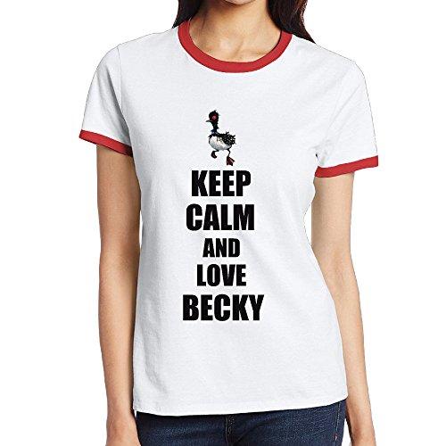[NINJOE Women's Classical Cute Bird Beck Design Running T-Shirt Red XXL] (Icarly Halloween)