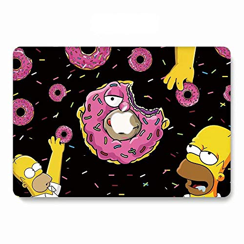 Hard Case Compatible MacBook Air 13/13.3 inch Model A1369 / A1466, Old Version, Release 2010-2017, AJYX Matte Plastic Hard Protective Case Shell Cover, w189 Donut ()
