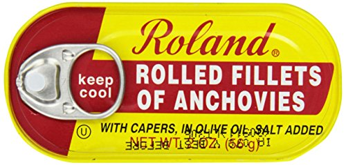 Roland Anchovy Fillets Rolled Capers