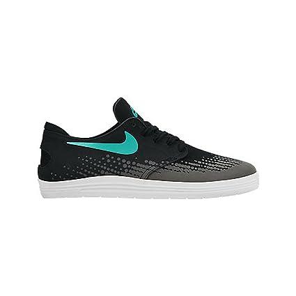 half off 2edd8 7360e Amazon.com: NIKE Lunar Oneshot Skate Shoe - Mens Black/White ...