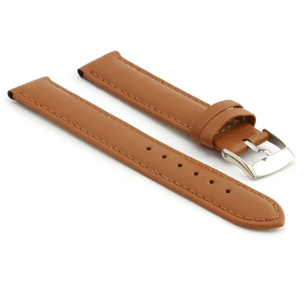StrapsCo 本革 腕時計ベルト マット仕上げ 30mm ライトブラウン B01INPBT8A 30mm|ライトブラウン ライトブラウン 30mm