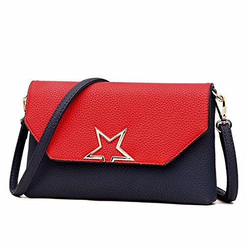 sac souple cm à enveloppe sac Couvrir sac sac 3 16 26 le main cuir coursier en nouveau le Red de black 1FxEYS