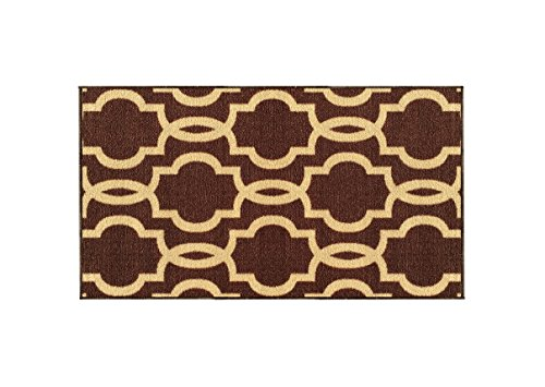 Moroccan Trellis Chocolate Doormat Non Slip