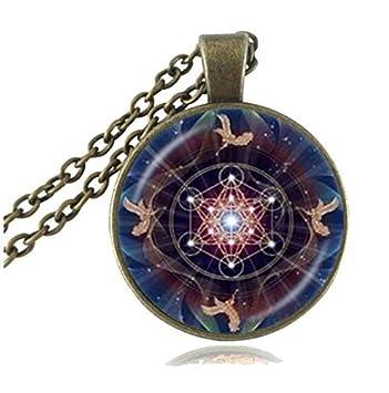 Metatron Cubo de colgante, con la geometría sagrada joyas ...