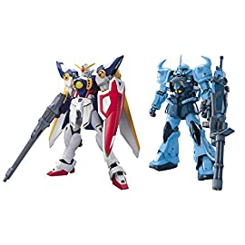 2 Bandai Gundam Models – MG MS-07B-3 GOUF CUSTOM and HGAC XXXG-01W Wing #162 (Japan Import)