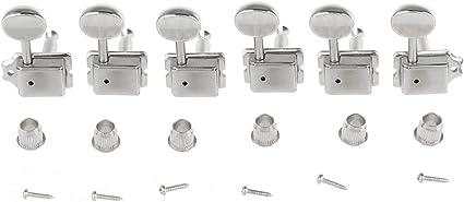 Nickel 3+3 Wilkinson Vintage Split Shaft Tuners Set of 6
