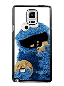 Provide Personalized Customized cookie monster Black Phone Case For Samsung Galaxy Note 4 Cover Case