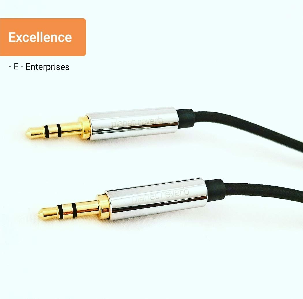 Planet Reverb AUX Cable 3.5MM Universal Nylon Cord Stereo Auxiliary Audio Cable, Compatible with Headphones, Smartphones, Mac Mini, Home/Car Stereos & More
