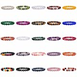 "Justinstones Gem Semi Precious Gemstone 10mm Round Beads Stretch Bracelet 7"" Unisex"