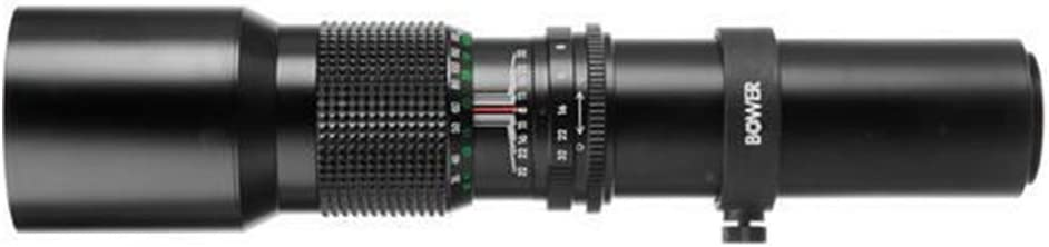 2X Converter for Canon EOS Rebel T1i T2i T3 T3i Bower 500mm//1000mm f//8 Telephoto Lens
