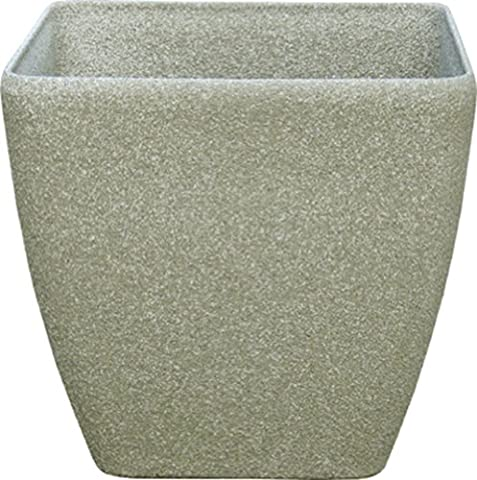 Stone Light SK Series 14 in. Cast Stone Square Planter, Limestone, Pack of 4 pcs