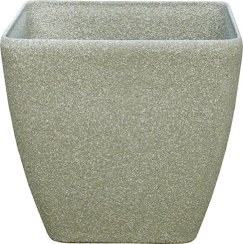Stone Light SK Series 11 in. Cast Stone Square Planter, Limestone, Pack of 6 pcs