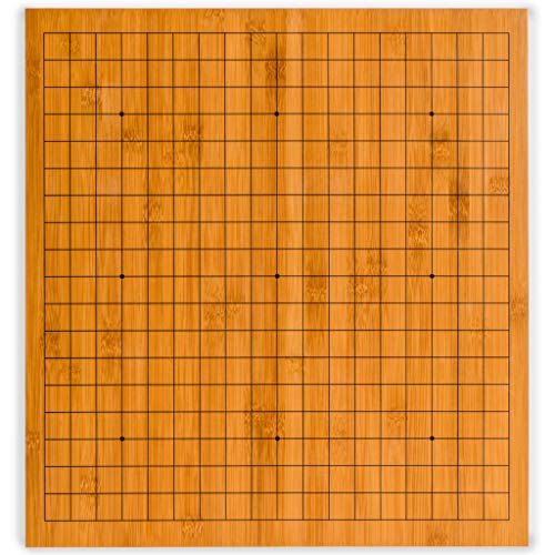 Yellow Mountain Imports Bamboo Go Game Table Board, Goban, 0.8 of an Inch Thick