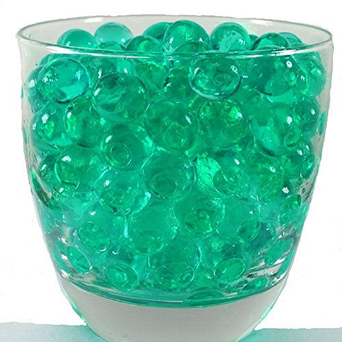 JellyBeadZ Brand - 1 Pound -Almost 30,000 Water Bead Gel -16 Ounce Heat Sealed Bag- Water Pearls Gel Beads- Weddings, Events, Centerpieces -Turquoise