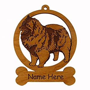 Keeshond Standing Dog Ornament 083435 Personalized With Your Dog's Name 7