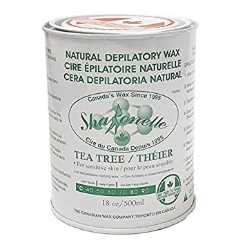 Sharonelle Soft Wax All Purpose Natural Depilatory Canned Wax (1 pcs, Tea Tree)