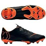 Nike Men's Mercurial Vapor XII PRO FG Cleats - (Black/White/Orange) (9)