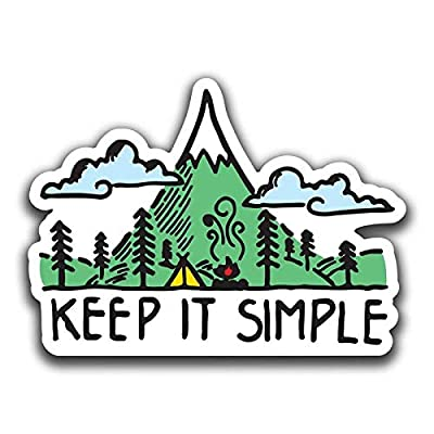 Keep It Simple Mountain Forest Vinyl Decal Sticker | Cars Trucks Vans SUVs Walls Cups Laptops | 5 Inch | Full Color Printed and Laminated | KCD2661: Automotive