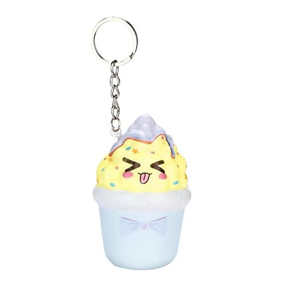 OVERMAL Toy Squishies Kawaii Ice Cream Slow Rising Cream Scented Keychain Stress Relief Toys