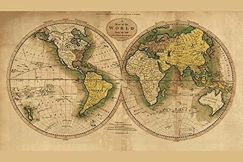 Amazon Com World Map 20x30 Paper Poster Posters Prints