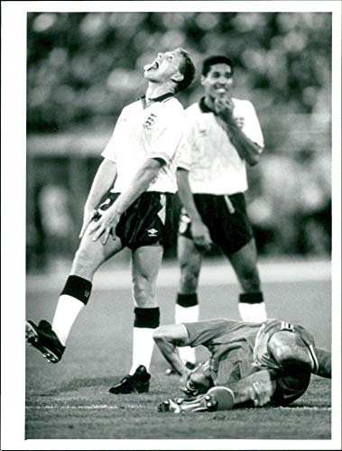 Vintage photo of Football Paul Gascoigne World Cup 1990