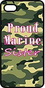 Proud Marine Sister Camoflauge Black Plastic Case for Apple iPhone 4 or iPhone 4s