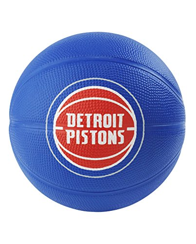 Detroit Pistons Mini Basketball - Spalding NBA Detroit Pistons NBA Primary Team Outdoor Rubber Basketballteam Logo, Royal Blue, N
