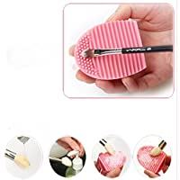 Cleaning MakeUp Washing Brush Silica Glove Scrubber Board...