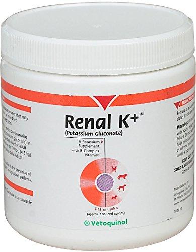 RENAL K++ Powder Dog & Cat Supplement, 100g container By Vetoquinol