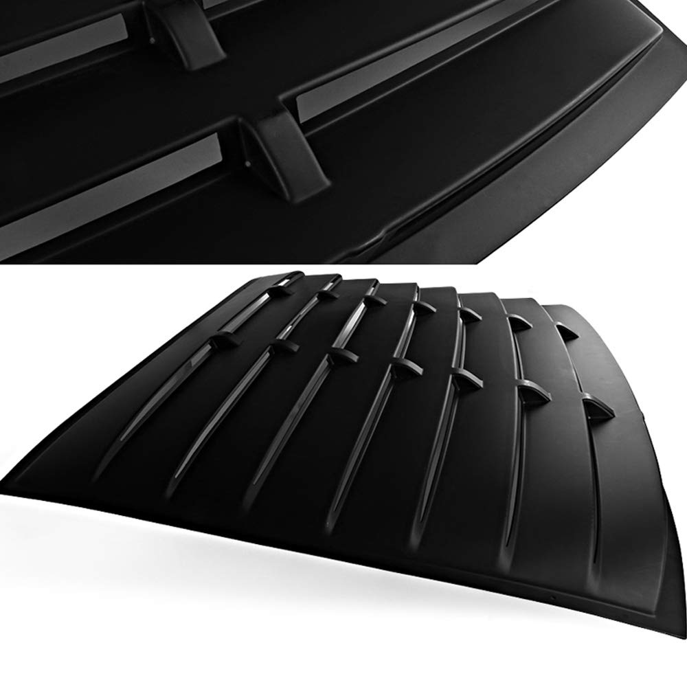 US-Auto ABS Matte Black Rear Window Louver Cover for 05-14 Ford Mustang GT V6 V8