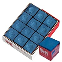 Master 18-319 caja de tiza de billar /pool cue, 12 cubos, azul