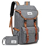 Travel Backpack CoolBELL 17.3 Inches Laptop Backpack Leisure Outdoor Rucksack Hiking Knapsack School Daypack Multi-functional Business Bag For/Men/Women/College (38L, Grey)