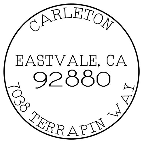 Custom Self Inking Return Address Stamp Round Personalized - Vintage Post Mark Design ()