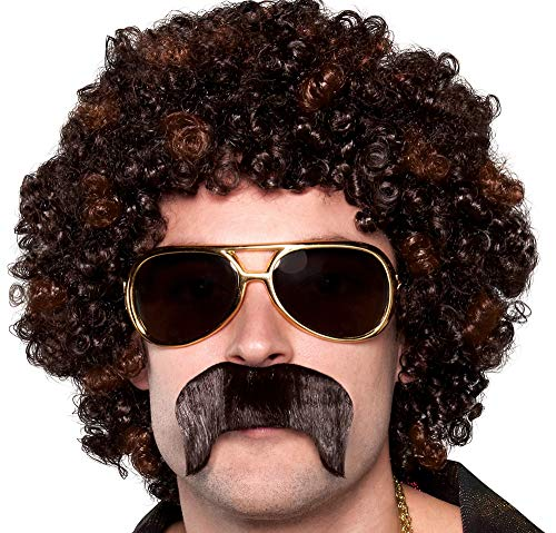 AMSCAN 70s Disco Dirt Bag Wig and Moustache,