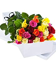 Two Dozen Fresh Roses | Fresh Cut Flowers | Flower Bouquets | Anniversary Flowers | Birthdays Flowers | Flower Delivery