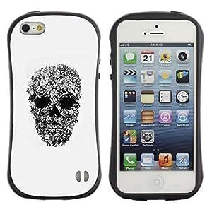 Be-Star Impreso Colorido Diseño Antichoque Caso Del Iface Primera Clase Tpu Carcasa Funda Case Cubierta Par Apple iPhone 5 / iPhone 5S ( rock roll metal heavy skull biker art )