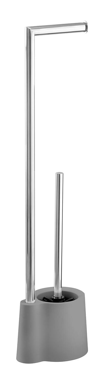 Wenko Stand Garnitur Avola WC-B/ürstenhalter Polypropylen 16 x 13 x 70 cm Schwarz