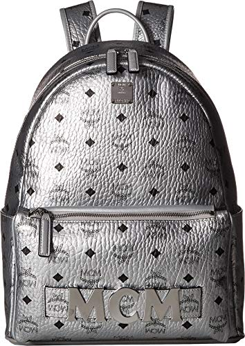 MCM Trilogie Stark Spektrum Visetos Backpack 37 Berlin Silver One Size