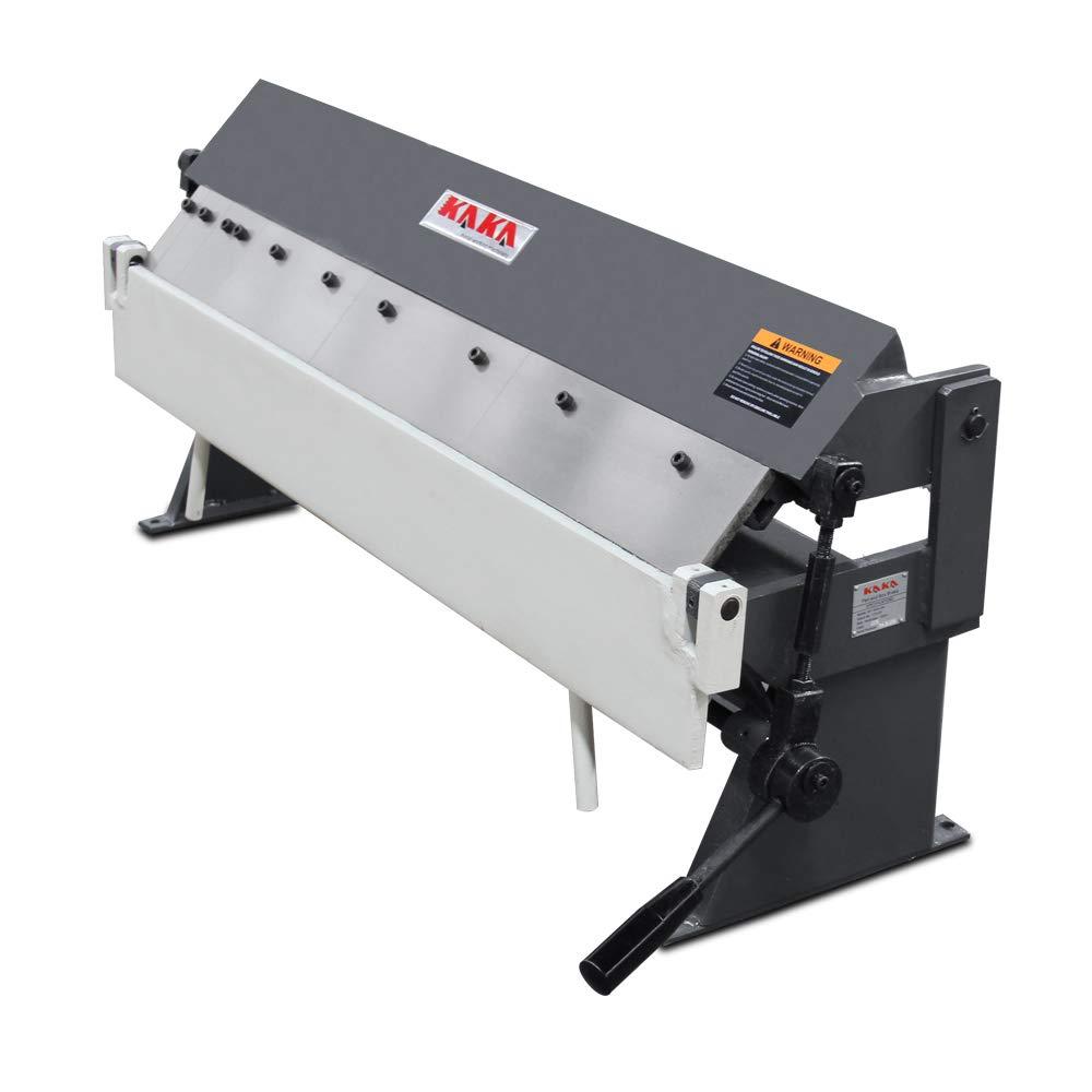 KAKA Industrial Pan and Box Brake, High Precision, Easy Adjustment Sheet Metal Box Pan Brake, 20 Gauges Sheet Metal Brake (36'')
