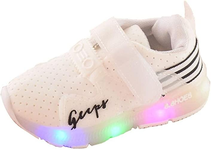Toddler Girls Boys Kids LED Light Shoes Lightweight Breathable Casual Walking Shoes Sneakers for 1-6 Years Old
