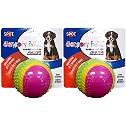 "Spot Sensory Rubber Sented Ball Dog Toy Size:2.5"" Pack of 2"
