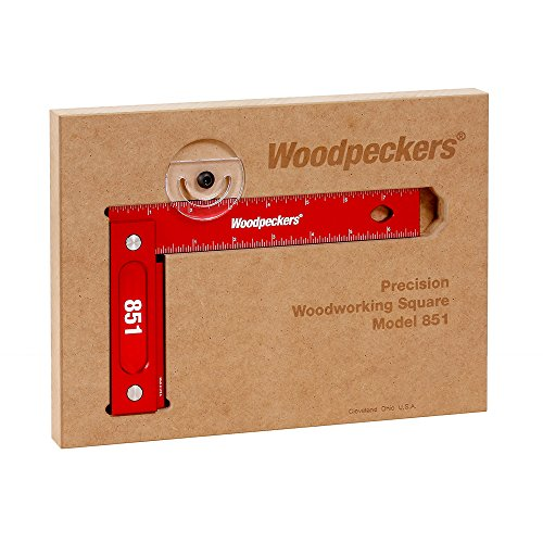 Woodpeckers Precision Woodworking 851 Square 8-inch x 5-inch, Wall-Mountable, Imperial
