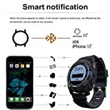 RUNACC Smart Sports Watch Heart Rate Monitor with GPS Function, Ideal for Outdoor Sports, 100% Waterproof, Support Android and iOS